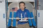 Lego geek astronaut builds Lego ISS on the ISS