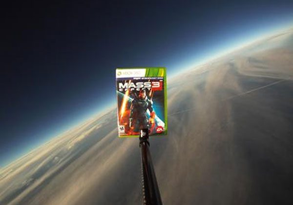 Mass Effect 3 copies tied to weather balloons and sent aloft
