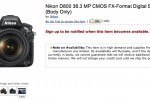 Nikon D800 pre-ordering frozen as demand surges