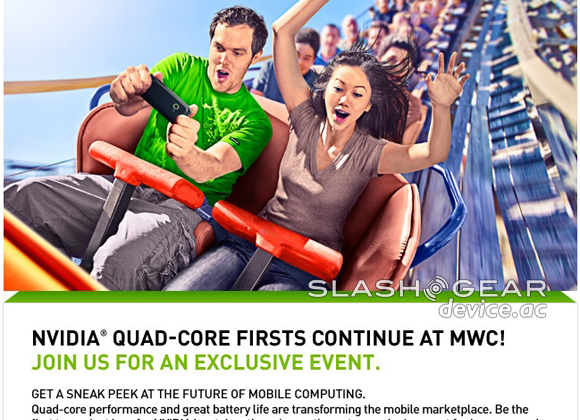 NVIDIA MWC 2012 invite teases world's first quad-core phone