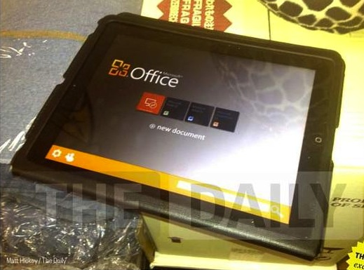 Office for iPad caught in wild