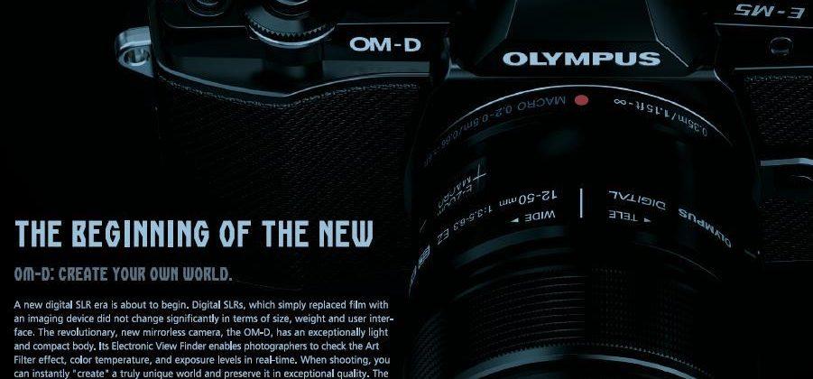 Olympus OM-D interchangeable lens camera leaks again