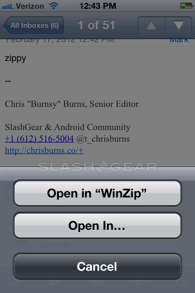 WinZip for iOS Review - SlashGear