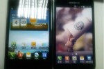 LG Optimus Vu and Samsung Galaxy Note pictured side-by-side