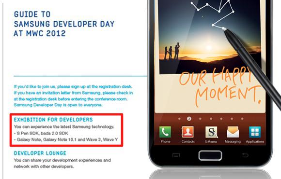 Samsung Galaxy Note 10.1 tipped for MWC 2012 debut