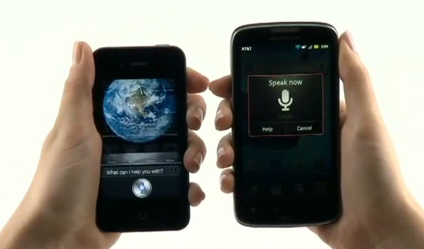 Motorola with Android Voice Actions battles Siri in comparison video