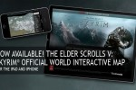 Skyrim interactive world map launches for iPhone and iPad