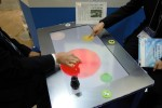 Gunze touchscreen panel knows who's touching it