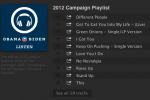 President Obama posts his Spotify 2012 Campaign Playlist