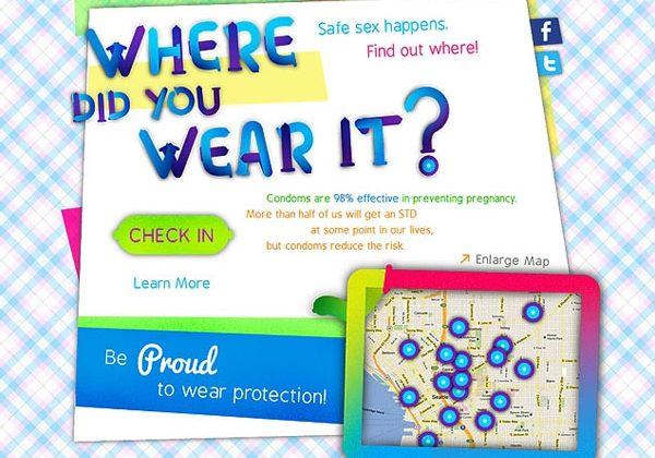 Special QR code condoms allow users to mark their lucky spots