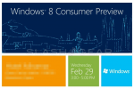 Microsoft Windows 8 Consumer Preview announced for MWC 2012