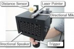 SpeechJammer device mutes human speech