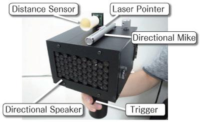 SpeechJammer device mutes human speech