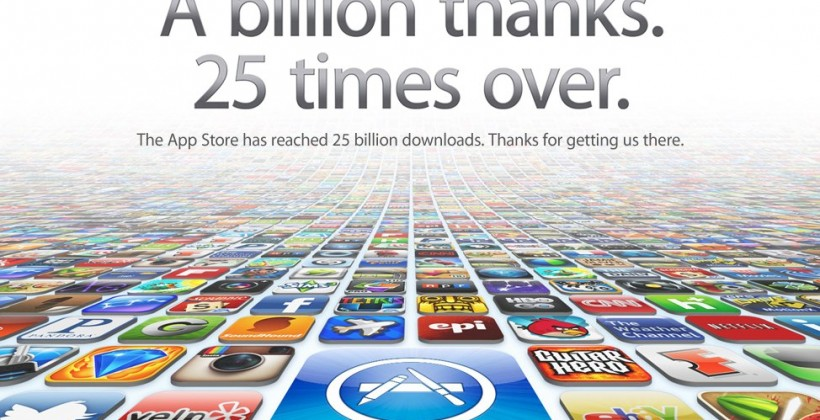 Apple blasts through 25 Billion App Store downloads