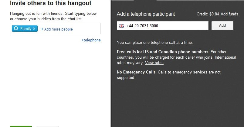 Google+ Hangouts integrates Voice for telephone calls