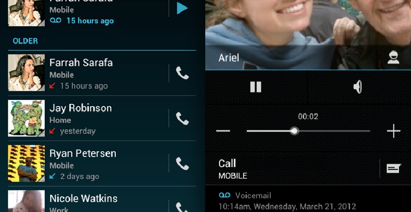 Google Voice gets integrated into Android call log