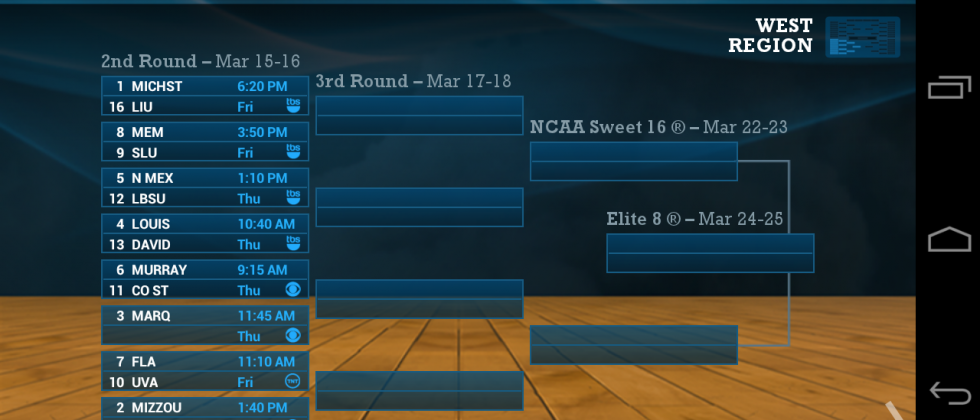 Official NCAA March Madness app released with live game