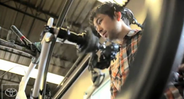 Bicycle concept changes gears using the power of your mind