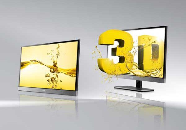 AOC d2357Ph 3D display sports 5.8mm frame