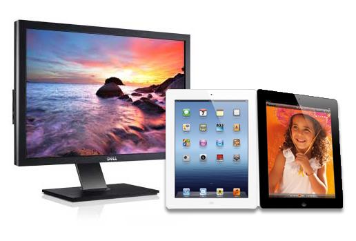 A Dell display is an iPad devs' best friend