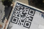 Facebook QR code is visible from space