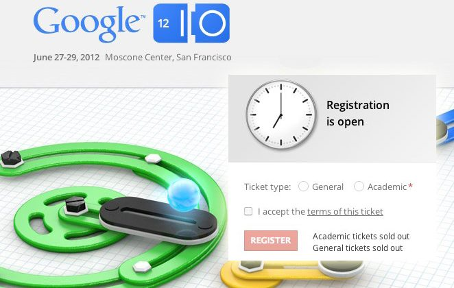 Google I/O 2012 sells out in under 30 minutes