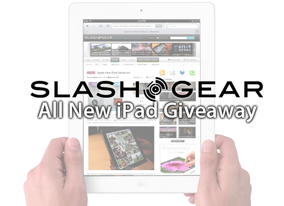 All New iPad Giveaway courtesy of SlashGear