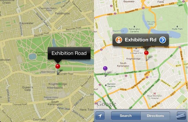 iPhoto for iOS ditches Google Maps