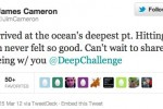 Titanic director tweets from ocean's deepest point