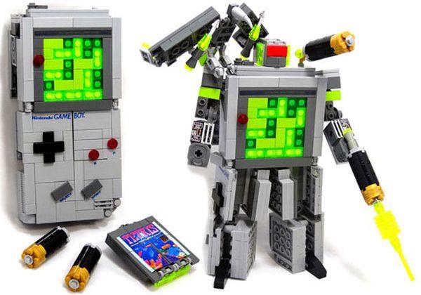Lego + Transformers + Gameboy = Nerdgasm