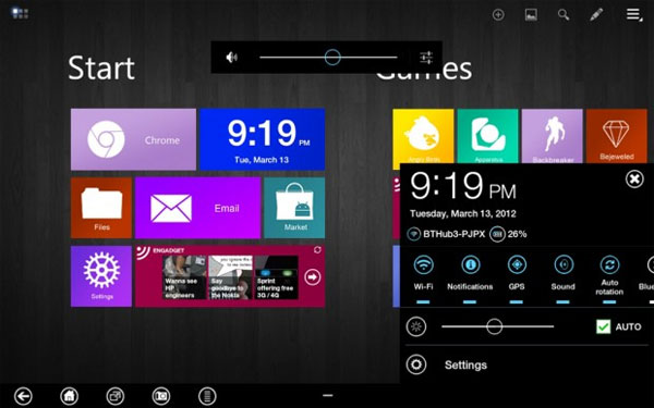 Metro UI theme for Galaxy Tab 10.1 surfaces