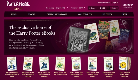 Harry Potter series now available as ebooks