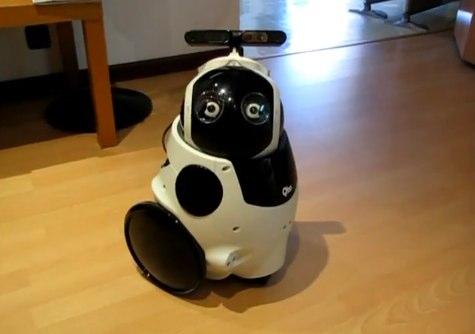 Qbo robot dons ASUS 3D sensor crown for intelligent autonomy