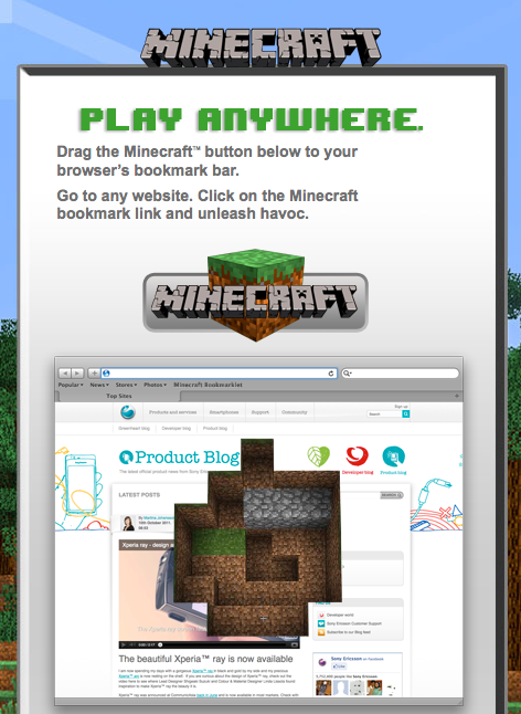 can i play minecraft on web browser