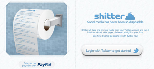 Sh*tter turns your twitter feed into TP