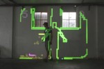 Mobile Projection Unit creates augmented reality Snake game