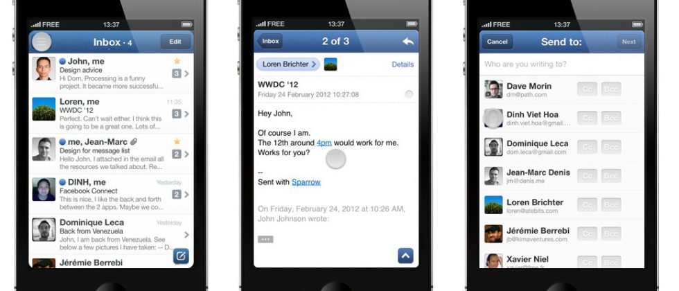 Sparrow for iPhone released