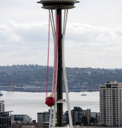 Angry Birds goes giant with Seattle Space Needle