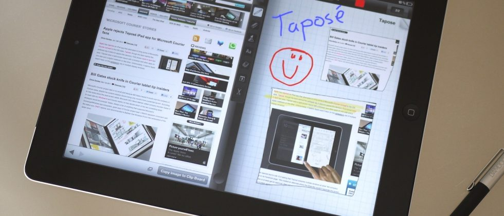 Taposé hits iPad: Courier in app form