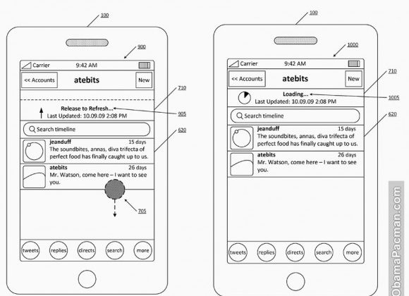 Twitter filed patent application for pull-to-refresh feature
