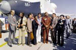 Spock meets NASA's Enterprise for final flight