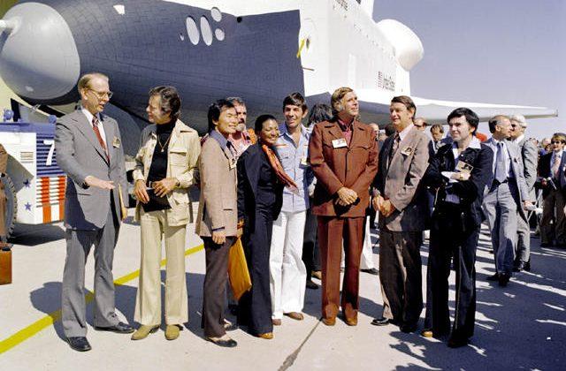 Spock meets NASA's Enterprise for final flight