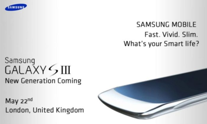 Samsung Galaxy S III press photo leaked in invite