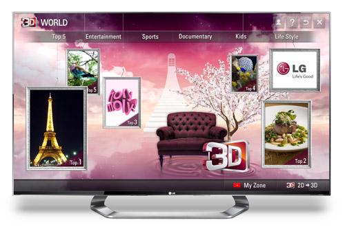 LG intros 3D World store on 2011/2012 Smart TVs
