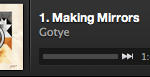 Spotify Play Button Gotye song