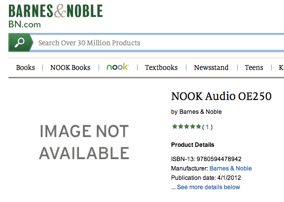 NOOK Audio coming from Barnes and Noble soon