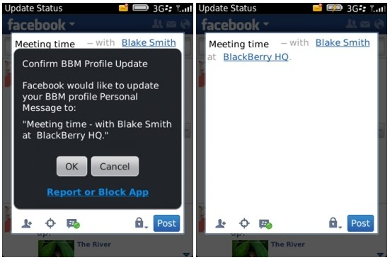 BlackBerry BBM integrated with Facebook, Twitter and more