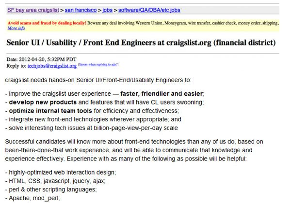 Craigslist update may be on the way