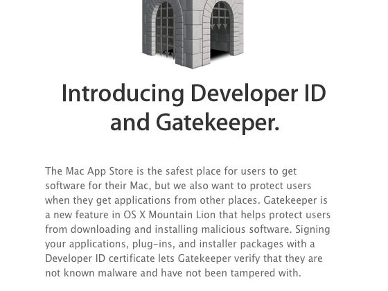 Apple hands Gatekeeper keys to developers