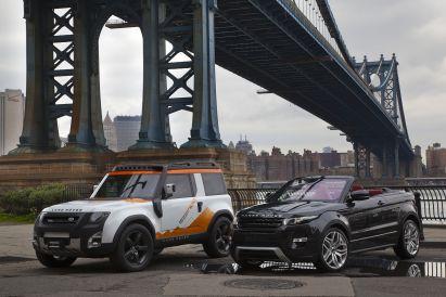 Land Rover shows off convertible concept Evoque and DC100